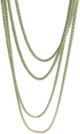 2mm Popcorn Chain Necklace 14-42 Inch Kezef Creations 925 Sterling Silver