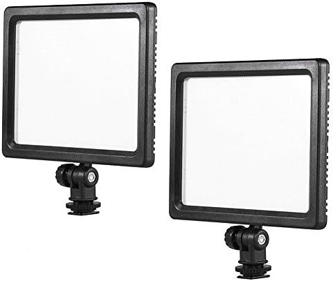 BLPad-22 112-LED 12デジタル一眼レフカメラビデオカメラ用0.6インチ超薄型LEDビデオライト調光対応フラットパネルオンカメラライトパッドW(2パック) zhaoyun