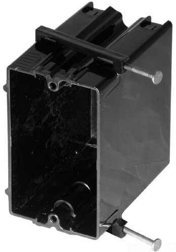Carlon 122-N Outlet Box, New Work, 1 Gang, 3-3/4-Inch Length by 2-1/4-Inch Width by 3-3/16-Inch Depth, Black