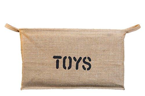 Jute Toy Box Organizer Storage Bin Basket Collapsible