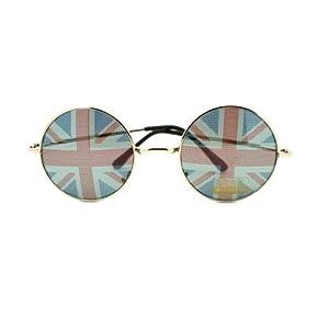 British England Flag In-pint John Lennon Perfect Circle Sunglasses