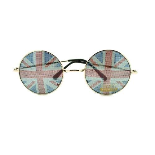 British England Flag In-pint John Lennon Perfect Circle Sunglasses (British Flag Sunglasses compare prices)