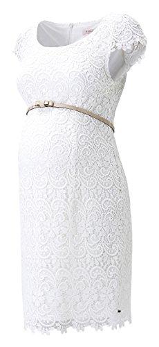 Esprit Dress Woven Ss - Vestido Mujer Blanco crudo (Off-white)