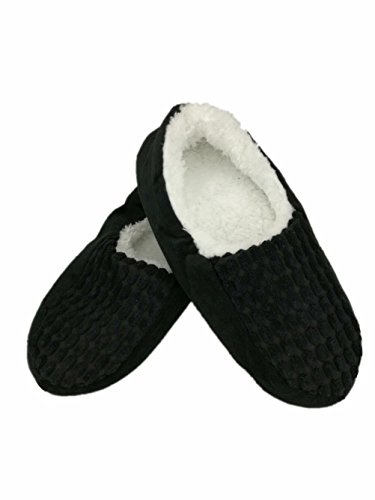 Mens Autumn Winter Indoor Non-skid Floor Shoes Slippers Socks HGTYM730 Black