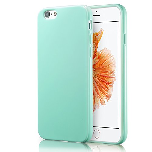 (iPhone 6S Mint Case, technext020 Shockproof Ultra Slim Fit Silicone Green TPU Soft Gel Rubber Cover Shock Resistance Protective Back Bumper for iPhone 6 Mint)