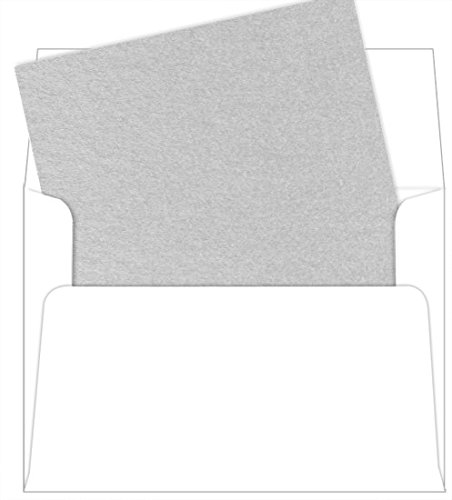 A7 Silver Metallic Envelope Liners, Stardream, 25 Pack - Silver Envelope Liners