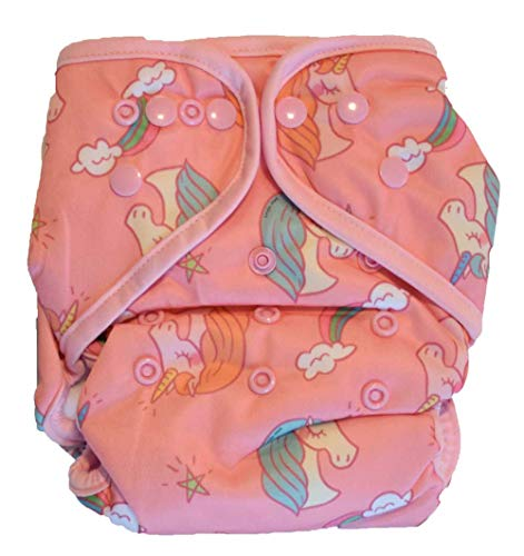 Layla Mae All in One Cloth Diapers One Size Adjustable AIO (Unicorn)