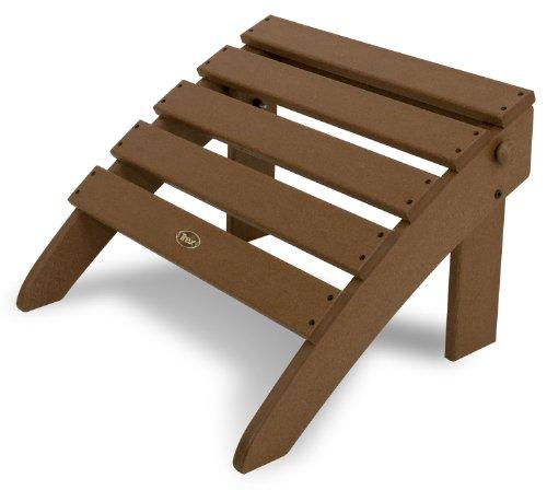Trex Outdoor Furniture TXO53TH Cape Cod Folding Ottoman, Tree House by Trex Outdoor Furniture by Polywood