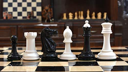 Reproduced 1940 Soviet Club Chess Set in Ebony & Ivory White - 4