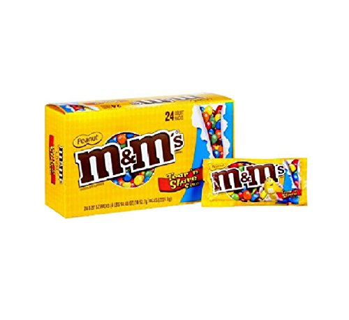 M&m Peanut - King Size 24ct Box by Queen City Candy