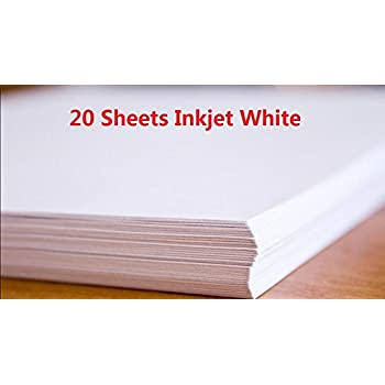 20 Sheets A4 Inkjet Water Slide Decal Paper Sheets White