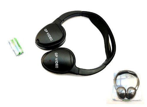THE NEW Automobile, Vehicle DP VIDEO IR180D Universal IR Wireless Foldable Headphones for In-