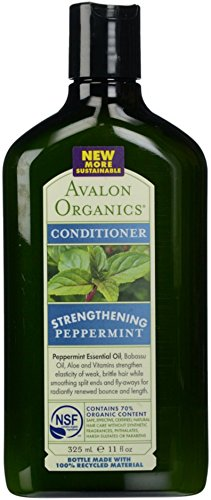Avalon Organics Peppermint Revitalizing Conditioner, 11-Ounce Bottle (Pack of 3)
