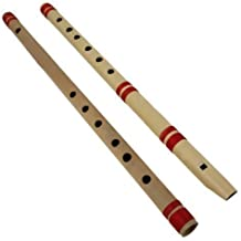 Indian Glance Set of 2 Traditional Wooden Flute Great Sound Woodwind Musical Instrument - Unique Gift Flute for Flute Music Lover