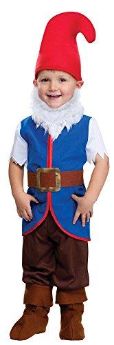 Gnome Boy Costume - Toddler Large - Gnome Costume Boy