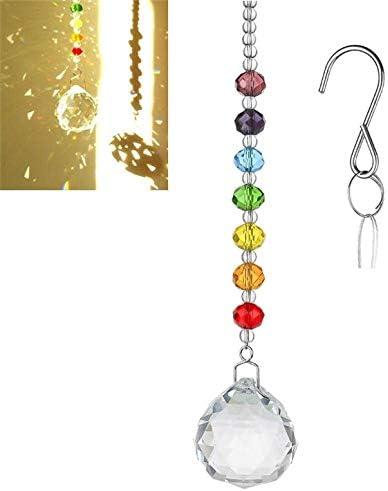 Moon Suncatcher Crystal Prisms Ball Pendants Home Decor Hanging Beside Window