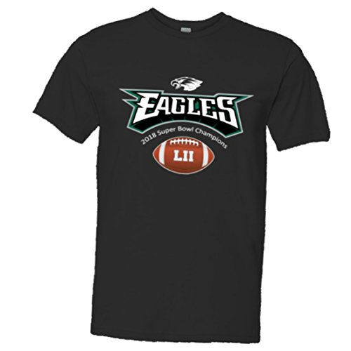 PleaseMeTees Mens/Unisex 2018 Eagles Champions With Football Soft HQ Tee (Eagles Football T-shirt)
