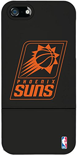 Coveroo iPhone 5/5S Black Slider Case with Phoenix Suns One Color Logo Design