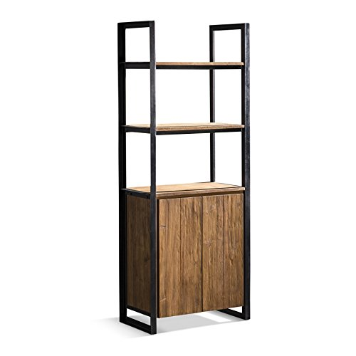 Artemano BC3712330 Cinta Bookcase with 2 Doors and 2 Shelves, Natural