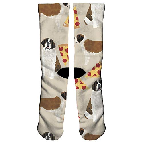 Saint Bernard Dog Breed Compression Socks Crew Socks Women & Men - Best Running, Athletic,Nurses,Flight,Travel- Boost Stamina, Circulation & Recovery]()