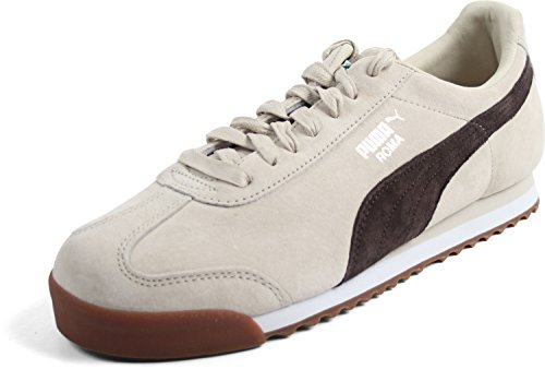 PUMA MENS ROMA GENTS BIRCH CHOCOLATE BROWN SIZE 8 (Suede Puma Roma)