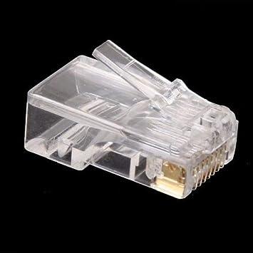 Sensational Amazon Com Connectors 100Pcs Lot Rj45 Rj 45 Ethernet Cables Module Wiring Digital Resources Remcakbiperorg