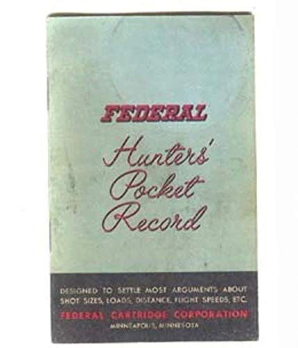 (1958 Federal Cartridge Corporation Hunters' Pocket Record Book)