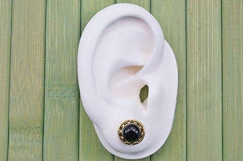 Boucles d'oreilles liaton avec Onyx Ø 11 mm