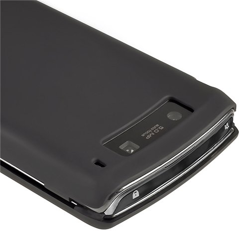 Amazon.com: Premium Black Rubberized Hard Crystal Snap-on Case Cover for Blackberry Torch 9800: Cell Phones & Accessories