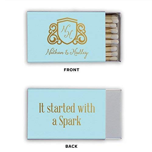 Personalized Wedding Matchbooks, Shower Match, Favor, Matches, Custom Printed Matchbook 250