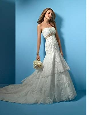 Alfred Angelo Wedding Gown - 2020 at Amazon Women\'s Clothing store ...