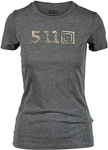 5.11 Camiseta táctica Legacy Topo para mujer, tela de algodón 100% suave, gráficos antidesvanecimiento, estilo 31014AAMF