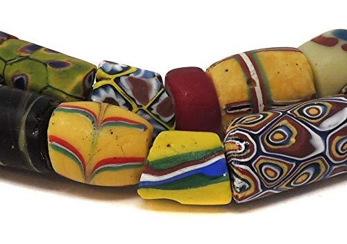 (Millefiori Venetian Trade Beads Mixed Africa 30 Inch)