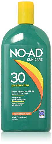 Care Lotion Sunscreen - NO-AD Sun Care Sunscreen Lotion, SPF 30 16 oz (Pack of 3)