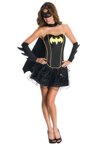 Batgirl Corset Costumes (Justice League Corset Adult Costume Batgirl - Large)