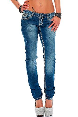 Cipo Jambe Bleu amp; Jeans Blau Droite Femme Baxx vx4Oqv
