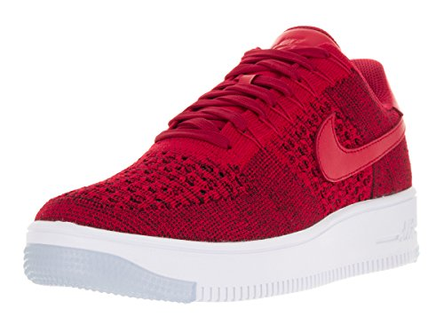 Nike Men's AF1 Ultra Flyknit Low Universtity Red/Unvrsty Red/Wht Basketball Shoe 10.5 Men US (Red Nikes Air Shoes For Men)