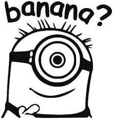 Autoaufkleber Banana Minion Design Verschiedene Farben Erhältlich Baumarkt