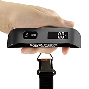 Digital Luggage Scale, 110LB Portable Handheld Baggage Scale for Travel, Suitcase Scale with Hook, Battery Included with…