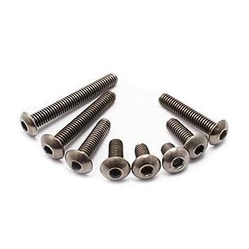 von snowspitzshop 50/Einheiten M3/x 8/mm Titan Innensechskant Button Head Maschine Schrauben