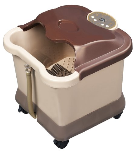 Carepeutic-Deluxe-Motorized-Foot-and-Leg-Spa-Bath-Massager-Light-BurgundyBrown