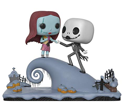 Funko Pop Movie Moment: Nightmare Before Christmas - Jack and Sally On The Hill Collectible Figure, Multicolor -