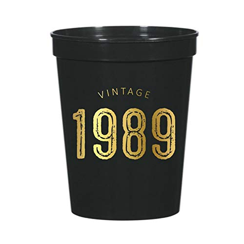 (Vintage 1989 Cups for a 30th Birthday Party Decor or Partyware, 30th Birthday Party, Stadium Cups, 30th Birthday Cups, Funny 30th Party Decor, Set of 12)