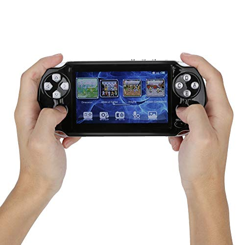 PSFS Handheld Game Console,Pap GAMETA 2 Plus 4.3'' Handheld Game Console 64 Bit Video Game Concole Port,Kids Gift for Ages 3+ Factory Outlet (Black) by PSFS (Image #2)