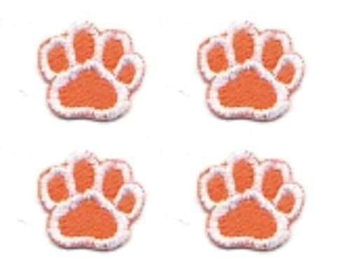 SMALL Appliques Patches Iron On Patterns Mini Dog Cat Animal Paw Print Embroidery Sewing Craft Supplies Machines Designs Logo Kids Cloth Hat Bag DIY Decor Lot of 4 Pcs (Orange - Turkey Hat Diy
