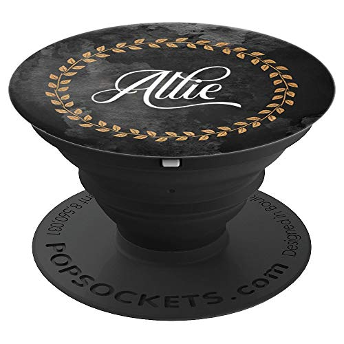 Allie Name Custom Gift Elegant Monogram Initial Art Gifts - PopSockets Grip and Stand for Phones and ()