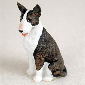 Amazon Com Bonsai Outlet Bull Terrier Brindle Dog Figurine Height Approx 2 Inches Home Kitchen
