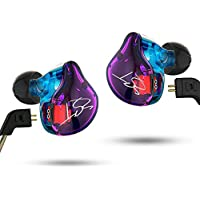KZ ZST HiFi Bass Sport Music Earphones Dynamic In-ear Earbud with MIC Hybrid Drive (Colorful)