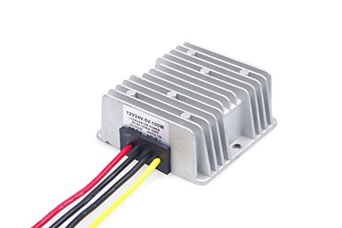 KNACRO DC-DC Buck Converter 12V / 24V / 36V ( 9- 36V) to 5V 20A / 100W Step-down Voltage Transformer Volt Regulator Power Supply Inverter Module Waterproof