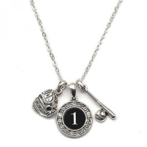 Custom Player ID Softball Necklace (#1, One - 1 Custom A